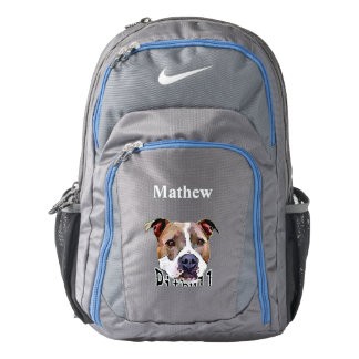 Pitbull Dog Nike Backpack