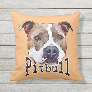 Pitbull dog outdoor pillow