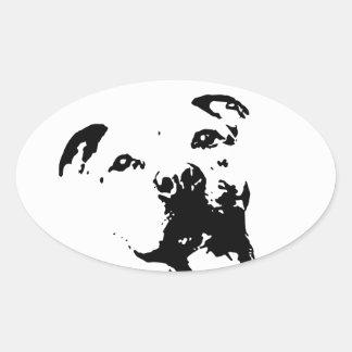 Pitbull Dog Oval Sticker