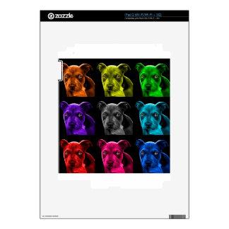 pitbull dog pop art 0785 bb decal for the iPad 2