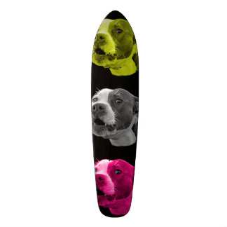 Pitbull dog pop art 7769 BB Skateboard