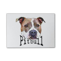 Pitbull dog post-it notes