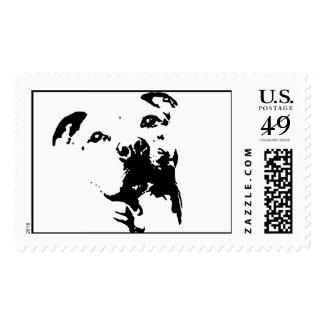 Pitbull Dog Stamp
