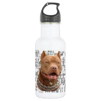 Pitbull dog stainless steel water bottle