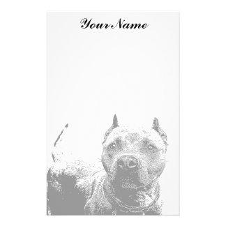Pitbull dog stationary stationery