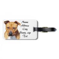 Pitbull dog tag for luggage