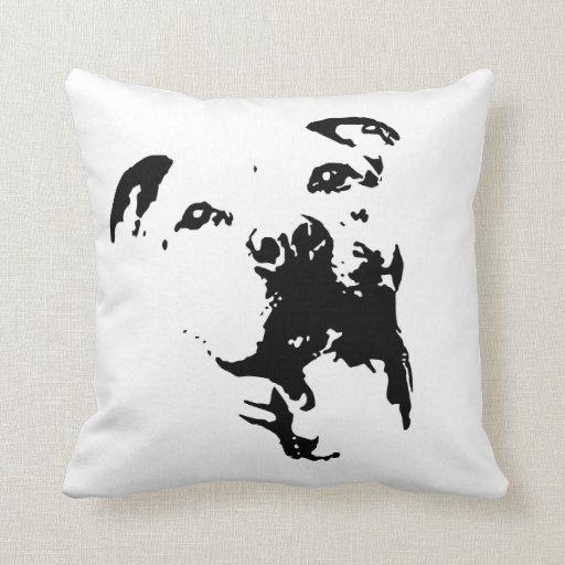 Pitbull Dog Throw Pillow Zazzle