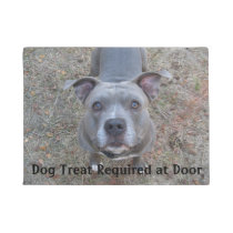 Pitbull Dog Treat Required Doormat