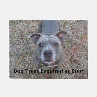 Pitbull Dog Treat Required Doormat