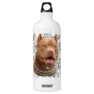 Pitbull dog water bottle