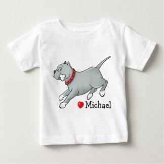 Pitbull Dog with Bone - Customise Baby T-shirt