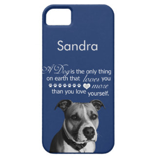 Pitbull dog with quotes iPhone SE/5/5s case
