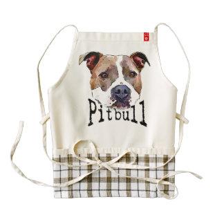 Pitbull Dog Zazzle HEART Apron
