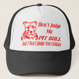 PITBULL DON'T JUDGE TRUCKER HAT