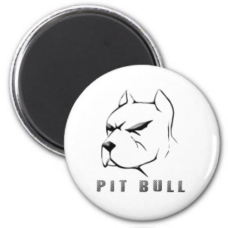 Pitbull draw 2 inch round magnet