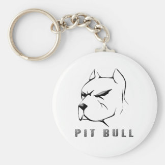 Pitbull draw keychain