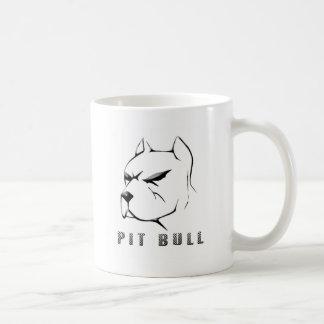 Pitbull draw classic white coffee mug