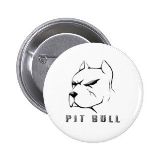 Pitbull draw pinback button
