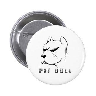 Pitbull draw pinback button