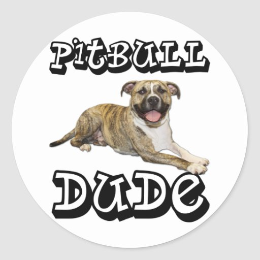 PitBull DUDE - Tigger Classic Round Sticker