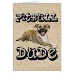PitBull DUDE - Tigger Greeting Card