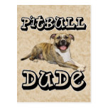 PitBull DUDE - Tigger Postcard
