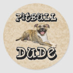 PitBull DUDE - Tigger Stickers