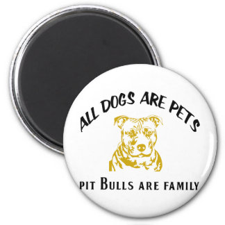 PITBULL FAMILY 2 INCH ROUND MAGNET