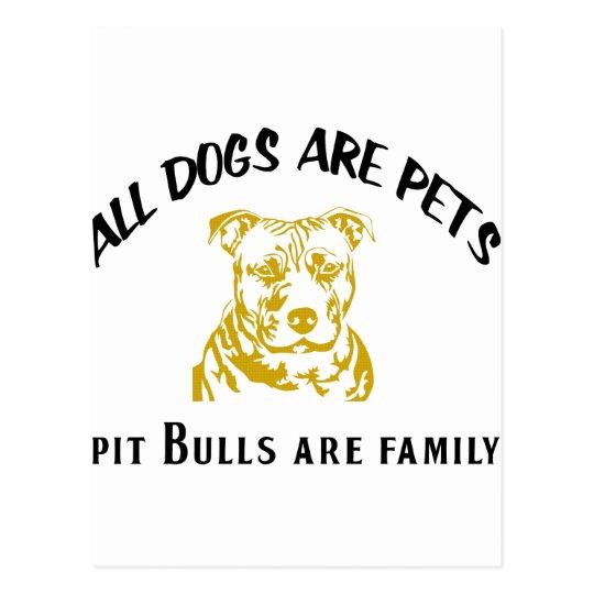 PITBULL FAMILY POSTCARD