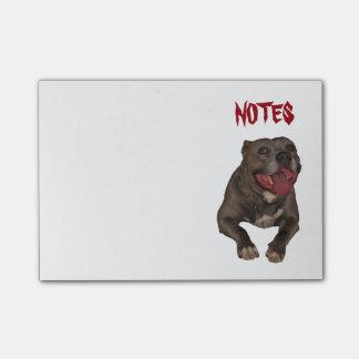 Pitbull feliz notas post-it®