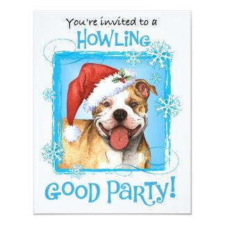 """Pitbull feliz Terrier de Howliday Invitación 4.25"""" X 5.5"""""""