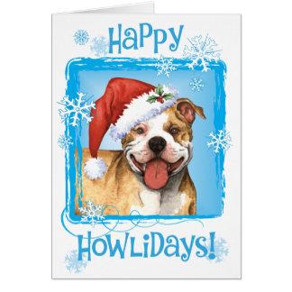 Pitbull feliz Terrier de Howliday Tarjetas