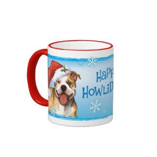 Pitbull feliz Terrier de Howliday Taza A Dos Colores