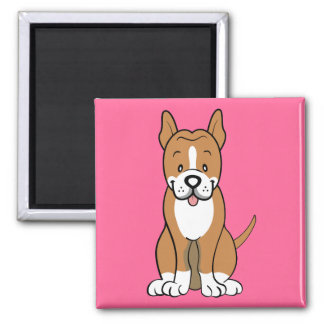 Pitbull gifts and merchandise 2 inch square magnet