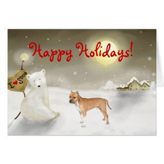Pitbull Holiday Card