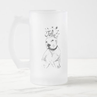 Pitbull Illustration Coffee Mugs