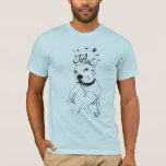Pitbull Illustration T-Shirt