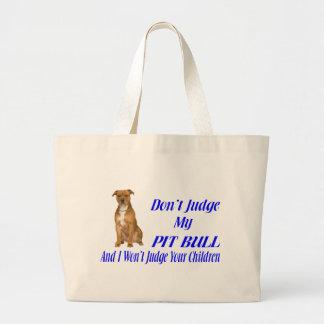 PITBULL JUDGEMENT LARGE TOTE BAG