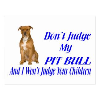 PITBULL JUDGEMENT POSTCARD