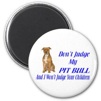 PITBULL JUDGEMENT REFRIGERATOR MAGNET