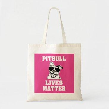 Beach Themed Pitbull Lives Matter funny Bully bag