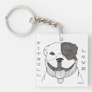 Pitbull Love Acrylic Keychain - Double Sided
