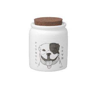 Pitbull Love Candy Jar