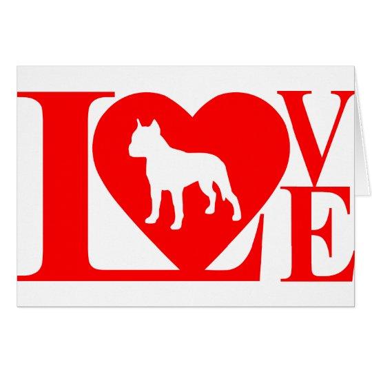PITBULL LOVE CARD