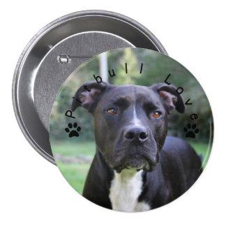 Pitbull Love Custom Picture Pinback Button