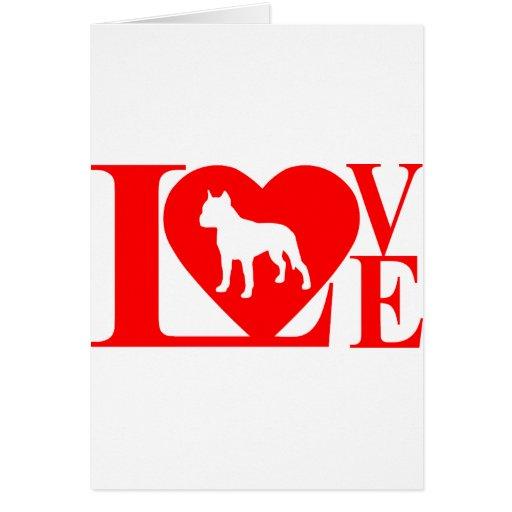 PITBULL LOVE GREETING CARDS