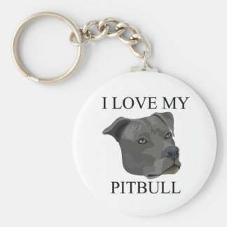 PITBULL Love! Basic Round Button Keychain