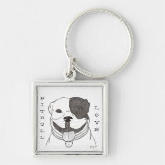 Pitbull Love Keychain