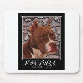Pitbull Love Mouse Pad