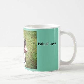 Pitbull Love Classic White Coffee Mug